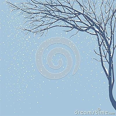 It is snowing
