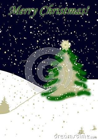 Snowing Christmas card