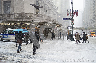 Snowing Grand Central Editorial Photography