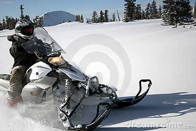 Snowmachine or snowmobile rider 7