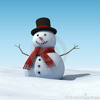 Free Snowman Royalty Free Stock Images - 12235819