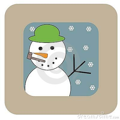 Snowman Royalty Free Stock Photos - Image: 22708058