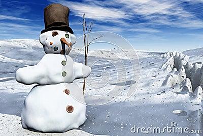 Snowman in 3D