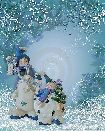 Snowman background Christmas border