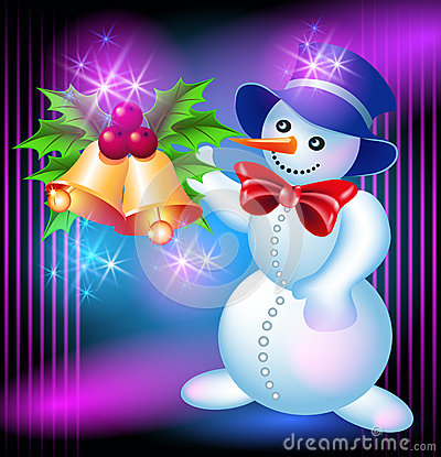 Snowman and bells