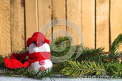 Snowman board wooden Christmas winter plush
