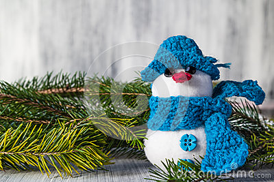 Snowman board wooden Christmas winter plush