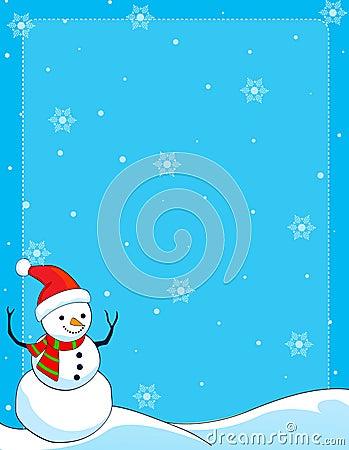 Snowman border /background