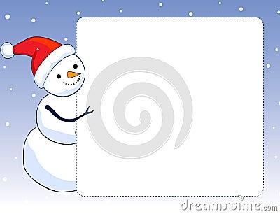 Snowman border / frame