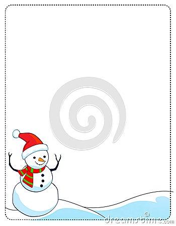 Snowman Border Clip Art Free snowman border / frame royalty free stock ...