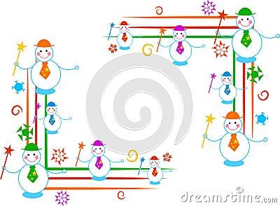 Snowman borders