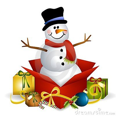 Free Snowman Christmas Present Royalty Free Stock Image - 7288636