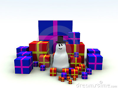 Snowman and Christmas Presents 6
