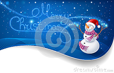 Snowman with Christmas text