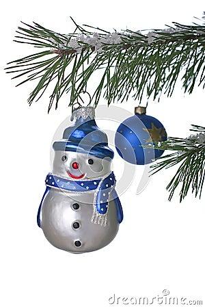 Snowman on Christmas tree
