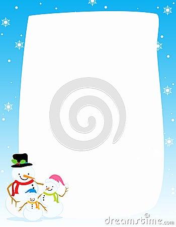 Snowman christmas / winter Border