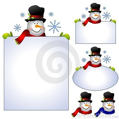 Free Snowman Clip Art Banners And Borders Royalty Free Stock Photo - 3696955