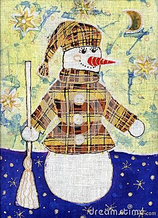 Snowman in a coat