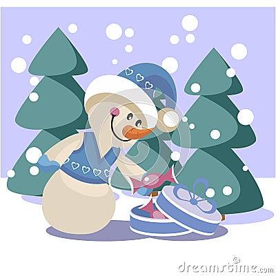 Snowman color 19