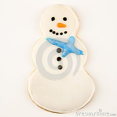 Snowman cookie.
