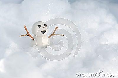 Snowman Doll on Ice