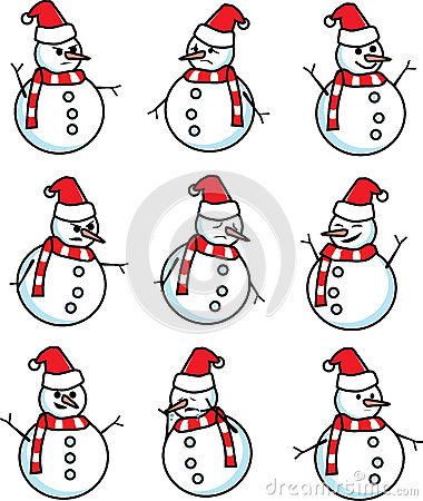 Snowman emotion vector