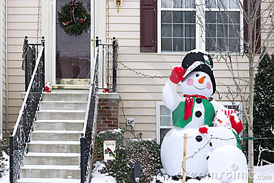Snowman family decoration
