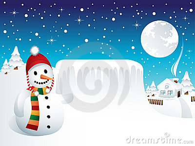 Snowman with Frozen Panel