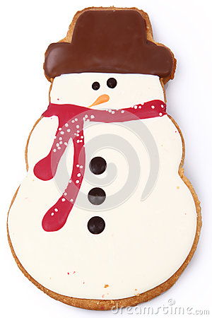 Free Snowman Gingerbread Cookie Stock Image - 27964931