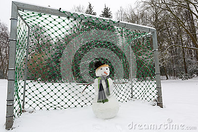 Snowman goalkeeper