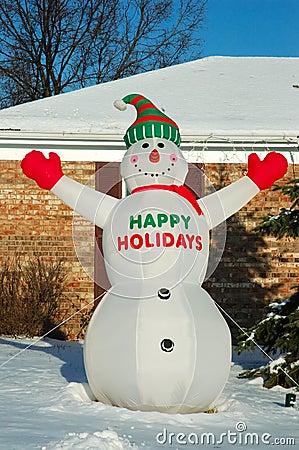 Snowman Happy Holidays