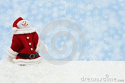 Snowman having fun