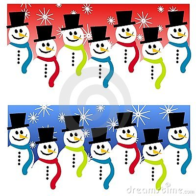 Snowman Header Backgrounds Stock Image - Image: 3497291