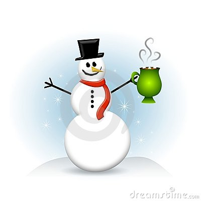 Free Snowman Hot Chocolate Royalty Free Stock Photos - 5982608