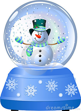 Free Snowman In Snow Globe Royalty Free Stock Images - 11231759