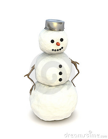 Snowman isolated