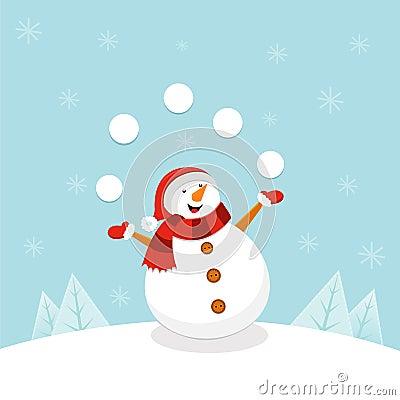 Free Snowman Juggling Stock Photo - 58256880