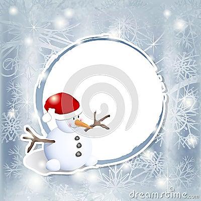 Snowman on label