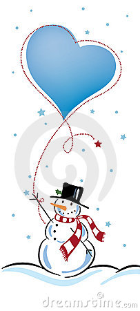 Two snowman in love and heart vector by teirin - Image #1747149 ...