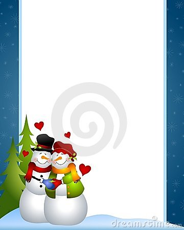 Snowman Love Border