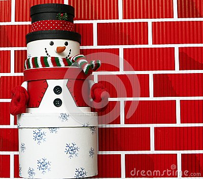 Snowman made of Gift Boxes