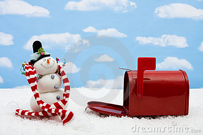 Snowman and Mailbox
