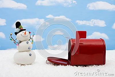 Snowman and Mailbox