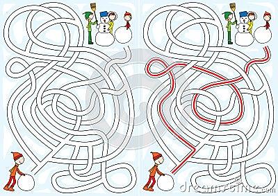 Snowman maze