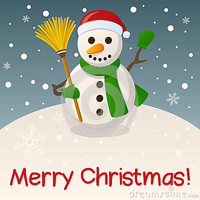 Snowman Merry Christmas Card
