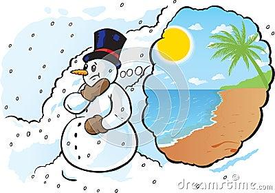 Snowman needs a vacation