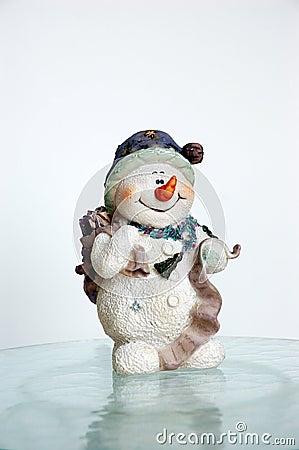 Free Snowman On Ice Stock Image - 219811