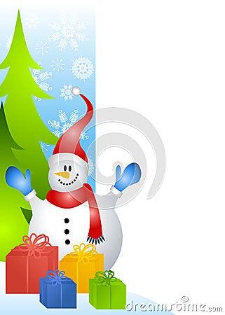 Snowman Page Border 2