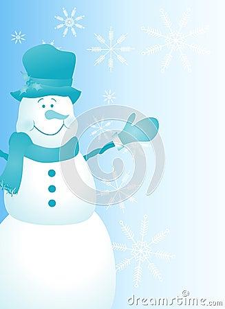 Snowman Page Border Blue