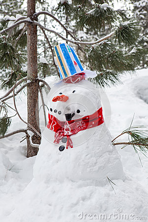 Snowman with a Pipe